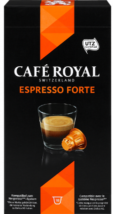 Cafe Royal Lungo Forte капсулы Nespresso® стандарта аналог