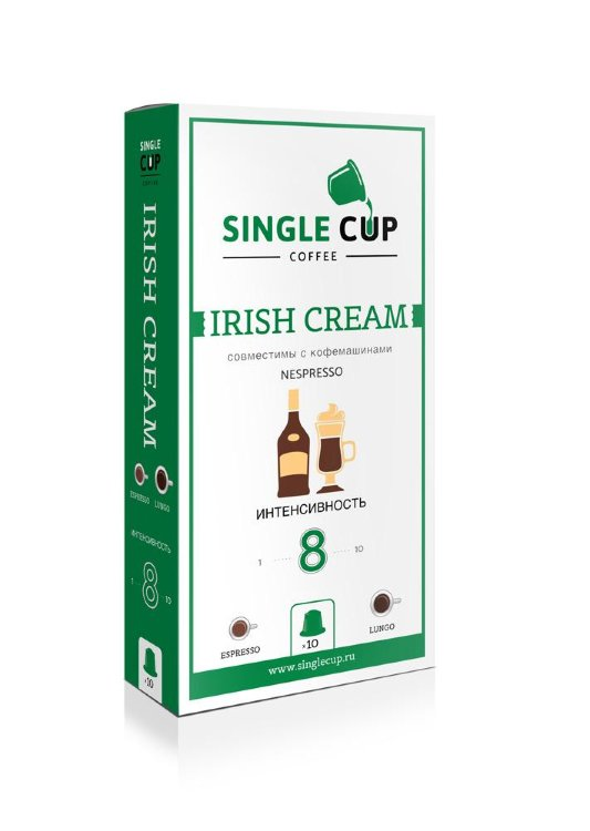 Irish Cream Single Cup капсулы Nespresso® стандарта аналог